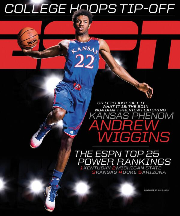 Andrew Wiggins on the cover of ESPN The Magazine - Rock ...