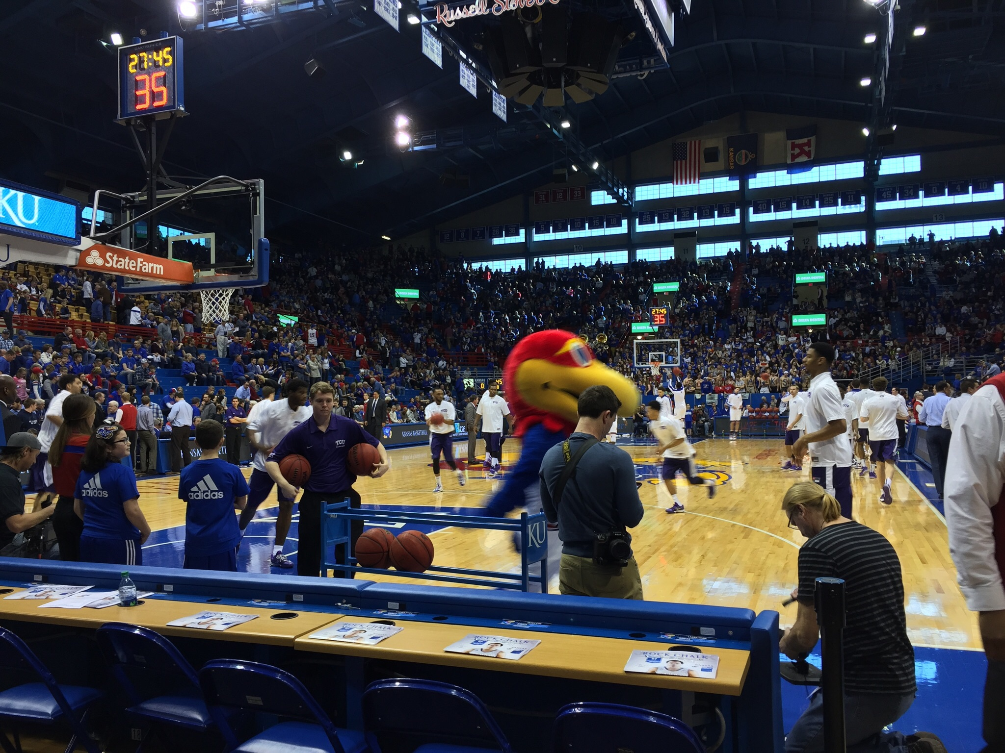 The floor at Allen Fieldhouse. Photo by Ryan Landreth.