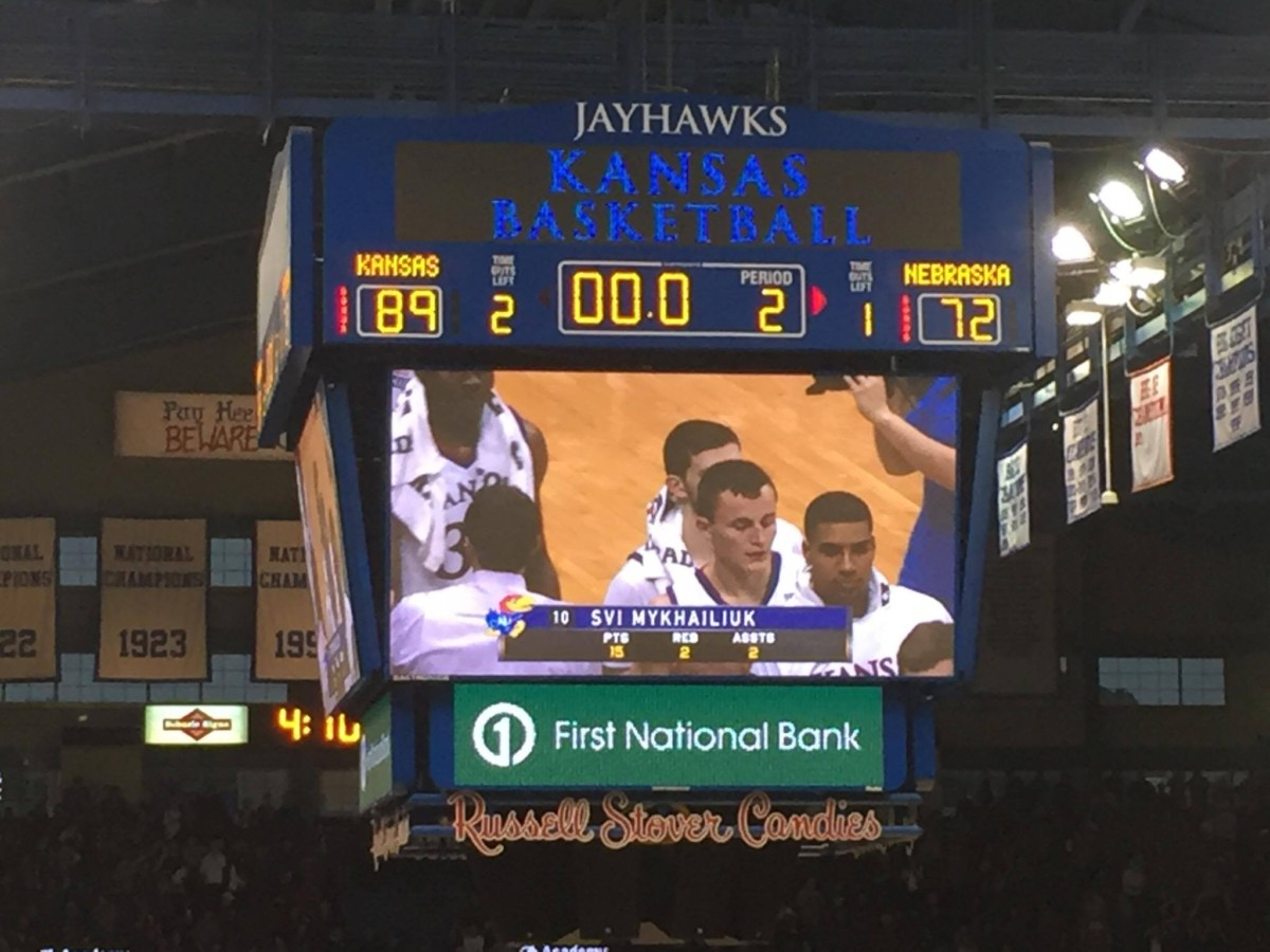 On Dec. 10, 2016, the Kansas Jayhawks defeated the Nebraska Cornhuskers 89-72. Photo by Ryan Landreth.