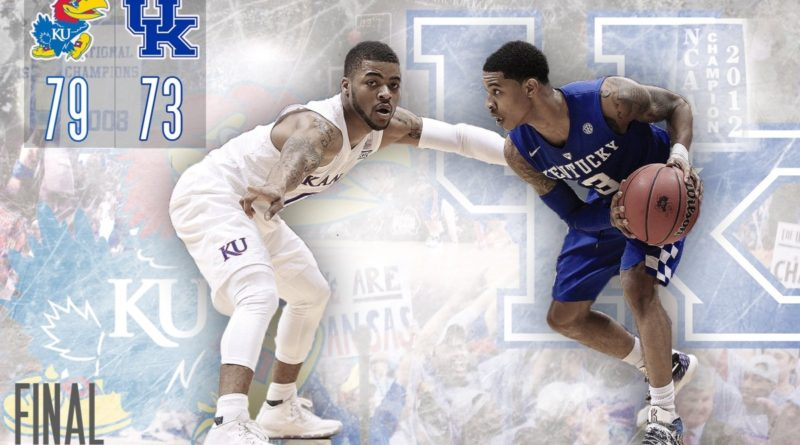 Kansas Jayhawks 79, Kentucky Wildcats 73. Graphic by Nick Weippert.