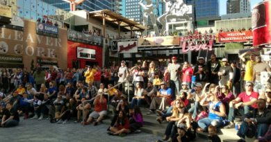 Fans take in the Showdown for Relief in Kansas City's Power & Light district. Photo by Joshua